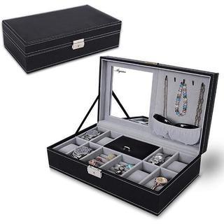 ジュエリーボックス 鍵付き 腕時計収納ケース コレクションケース 腕時計 8本ま(腕時計(アナログ))