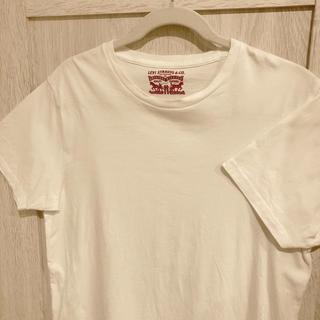 リーバイス(Levi's)のリーバイス 無地Tシャツ ホワイト 白 L 古着 ヴィンテージ Levi's(Tシャツ/カットソー(半袖/袖なし))