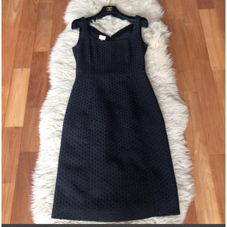 美品☆アルマーニ コレッツォーニ☆素敵なブラックドレス