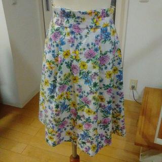 クチュールブローチ(Couture Brooch)の新品 クチュールブローチ★フラワージャガード風スカート(ひざ丈スカート)