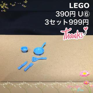 レゴ(Lego)のLEGO レゴフレンズ U⑥ 調理道具 プライパン カップ フォーク ナイフ (積み木/ブロック)