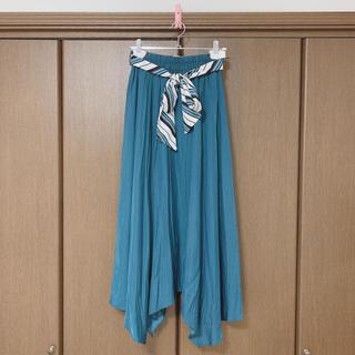 31 Sons de mode - トランテアンソンドゥモード スカーフベルト付きイレヘムスカート