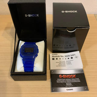ジーショック(G-SHOCK)の新品 CASIO G-SHOCK  DW-5600ブルー(腕時計(デジタル))