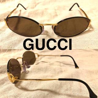 グッチ(Gucci)のGUCCI オーバル サングラス メタルフレーム イタリア製 度入り(サングラス/メガネ)