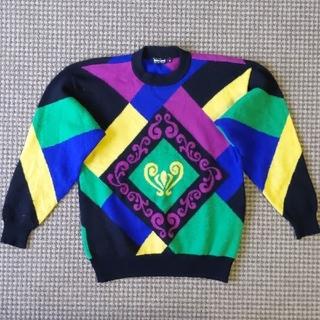 ルイヴィトン(LOUIS VUITTON)の最終売り切り価格!!超高級ウール100% イタリアミラノデザインニットセーター(ニット/セーター)