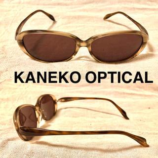 ビューティアンドユースユナイテッドアローズ(BEAUTY&YOUTH UNITED ARROWS)のKANEKO OPTICAL Lazy Red オーバル サングラス ブラウン(サングラス/メガネ)