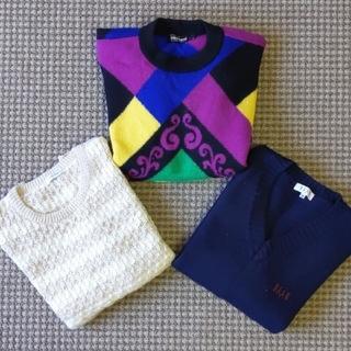 ルイヴィトン(LOUIS VUITTON)の最終売り切り価格!! 高級総額3万強 イタリアンミラノデザインセーター3枚セット(ニット/セーター)