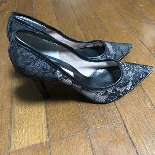 DIANA - DIANA(ダイアナ )レースパンプス 23.5 中古美品 ハイヒール 靴
