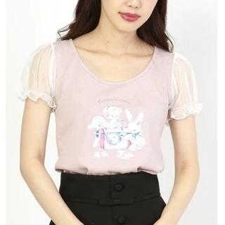 アンクルージュ(Ank Rouge)のAnk Rouge  vintage toy   パフtops  ピンク(Tシャツ(半袖/袖なし))