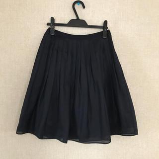 ロペ(ROPE)のロペ◆濃紺 プリーツ フレアスカート(ひざ丈スカート)
