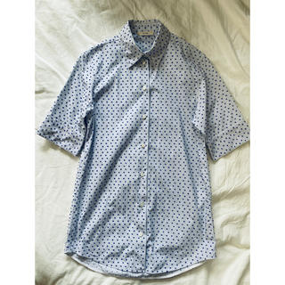 セリーヌ(celine)のceline フロッキードットシャツ(シャツ/ブラウス(半袖/袖なし))