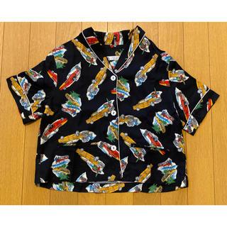 ZARA KIDS - 【新品タグなし】ZARA パジャマシャツ NAVY Car 134/140cm