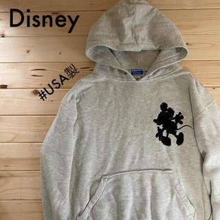 ディズニー(Disney)のミッキー パーカー ヴィンテージ古着 ブート USA製(パーカー)