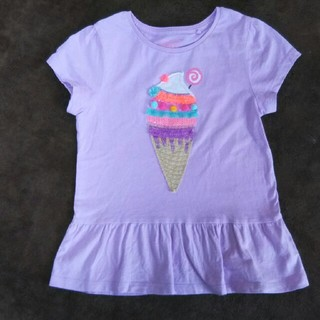 ネクスト(NEXT)の☆next☆ライラック アイスクリーム ペプラムTシャツ サイズ122(Tシャツ/カットソー)