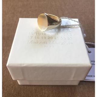 マルタンマルジェラ(Maison Martin Margiela)のM新品 メゾン マルジェラ ツートーン リング 指輪 メンズ シルバー ゴールド(リング(指輪))