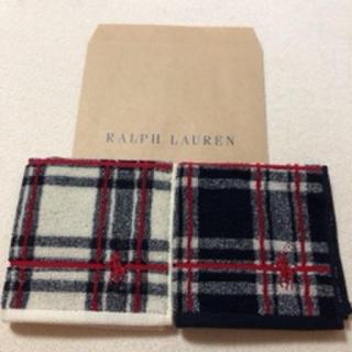 Ralph Lauren - ラルフローレンタオル ハンカチ2枚セット