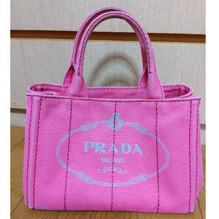 PRADA - PRADA カナパS ピンク ハンドバッグ プラダ