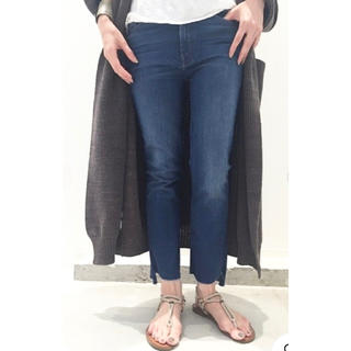 DEUXIEME CLASSE - MOTHER BLUE INSIDER CROP 26 マザー ブルーデニム