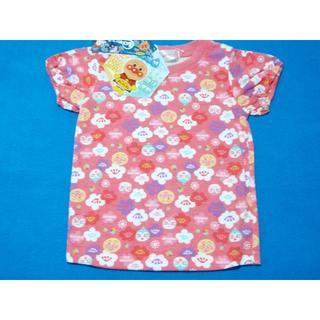 アンパンマン(アンパンマン)の新品 100cm アンパンマン 和柄総柄半袖Tシャツ レッドピンク 2020夏(Tシャツ/カットソー)