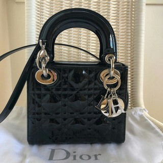Christian Dior - 美品クリスチャンディオール エナメルミニ2wayバック正規品