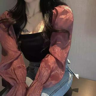 ZARA - ♡ pink chiffon blouse ♡