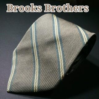 ブルックスブラザース(Brooks Brothers)のBROOKS BROTHERS レジメンタル ネクタイ  カーキ(ネクタイ)