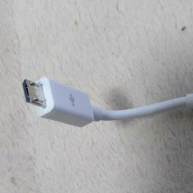 ASUS(エイスース)のOTGケーブルUSBAtoMicroB変換ケーブル10cm ASUS純正 スマホ/家電/カメラのスマホアクセサリー(その他)の商品写真