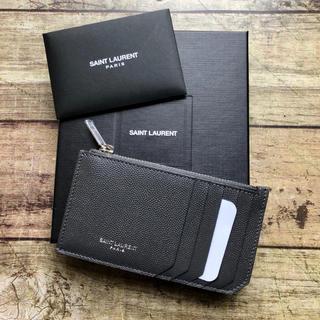 Saint Laurent - 新品 サンローラン  ロゴ カードケース  コインケース  グレー