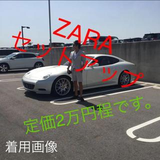 ザラマン シアサッカー ハーフパンツ セットアップ M 白 ホワイト(その他)