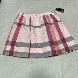 バーバリー(BURBERRY)の新品 バーバリー  130 チェックスカート(スカート)