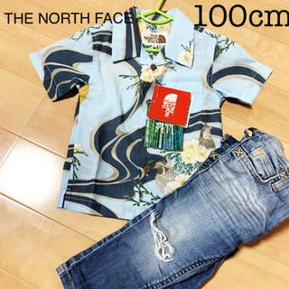 ザノースフェイス(THE NORTH FACE)の新品ノースフェイス和風アロハシャツ100cm(Tシャツ/カットソー)
