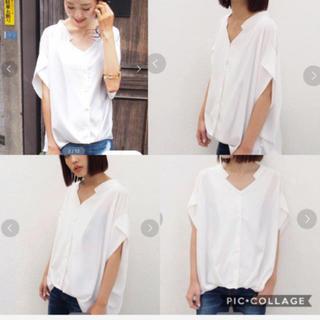ムルーア(MURUA)のムルーア MURUA ヘムバルーンデコルテシャツ 美品 シャツ 人気 ストライプ(シャツ/ブラウス(半袖/袖なし))