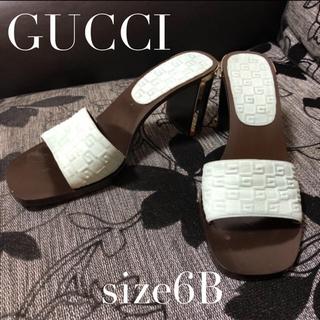 Gucci - GUCCI  ウッドヒールミュール