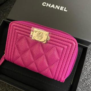 CHANEL - CHANEL コインケース  新品未使用 ピンク ボーイシャネル 財布