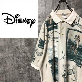 ディズニー(Disney)の【激レア】ディズニー☆くまのプーさんゴルフティガーキャラ総柄ポロシャツ 90s(ポロシャツ)