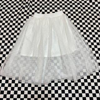 ジーユー(GU)のドット柄チュールスカート(スカート)