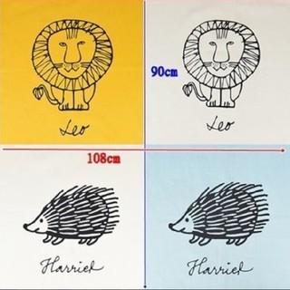 リサラーソン(Lisa Larson)のリサラーソン パネル生地 ライオン ハリネズミ タグ付き ゆうパケット(生地/糸)