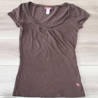 アバクロンビーアンドフィッチ(Abercrombie&Fitch)のアバクロ Tシャツ ブラウン XS(Tシャツ(半袖/袖なし))