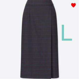 UNIQLO - 新品 ユニクロ チェックナロースカート L