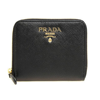 プラダ(PRADA)の7月11日まで! PRADA 二つ折り 財布 プラダ ブラック レディース(折り財布)