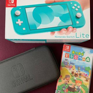 Nintendo Switch - Nintendo Switch  Lite ターコイズあつまれどうぶつの森セット