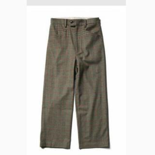 サンシー(SUNSEA)のURU wool check pants グリーン サイズ1 リョウマツモト(スラックス)