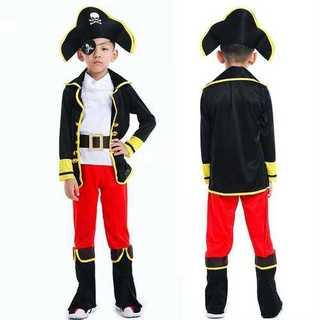 海賊 コスプレ こども キッズ 男の子 女の子 仮装 衣装 ハロウィン 変装(衣装一式)