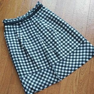 エフデ(ef-de)のエフデ ギンガムチェックタイトスカート(ひざ丈スカート)