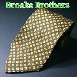 ブルックスブラザース(Brooks Brothers)のBROOKS BROTHERS  スクエアドット ネクタイ カーキ(ネクタイ)