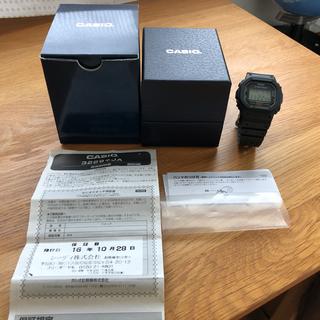 ジーショック(G-SHOCK)のCASIO G-SHOCK DW-5600E-1 美品 箱 説明書あり(腕時計(デジタル))