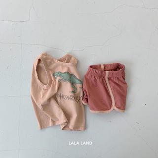 LALA LAND 恐竜柄セットアップ 韓国子供服