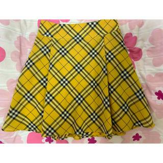 バーバリーブルーレーベル(BURBERRY BLUE LABEL)の美品❤︎バーバリーブルーレーベル❤︎チェック柄スカート(ひざ丈スカート)