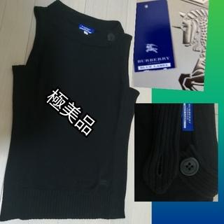 BURBERRY BLUE LABEL - バーバリーブルーレーベルニットセーターアウター上品必須通勤普段用素敵ブラック