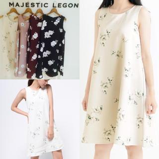MAJESTIC LEGON - MAJESTIC LEGON♡BIGフラワーノースリワンピース♡